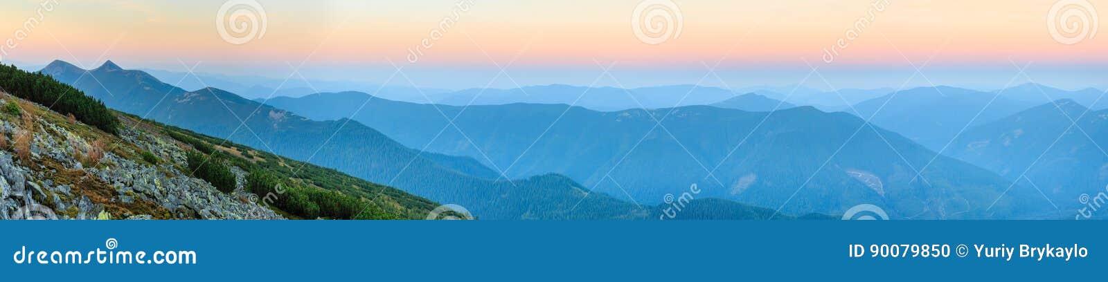 summer sunrise carpathian mountain stock photo image of nature