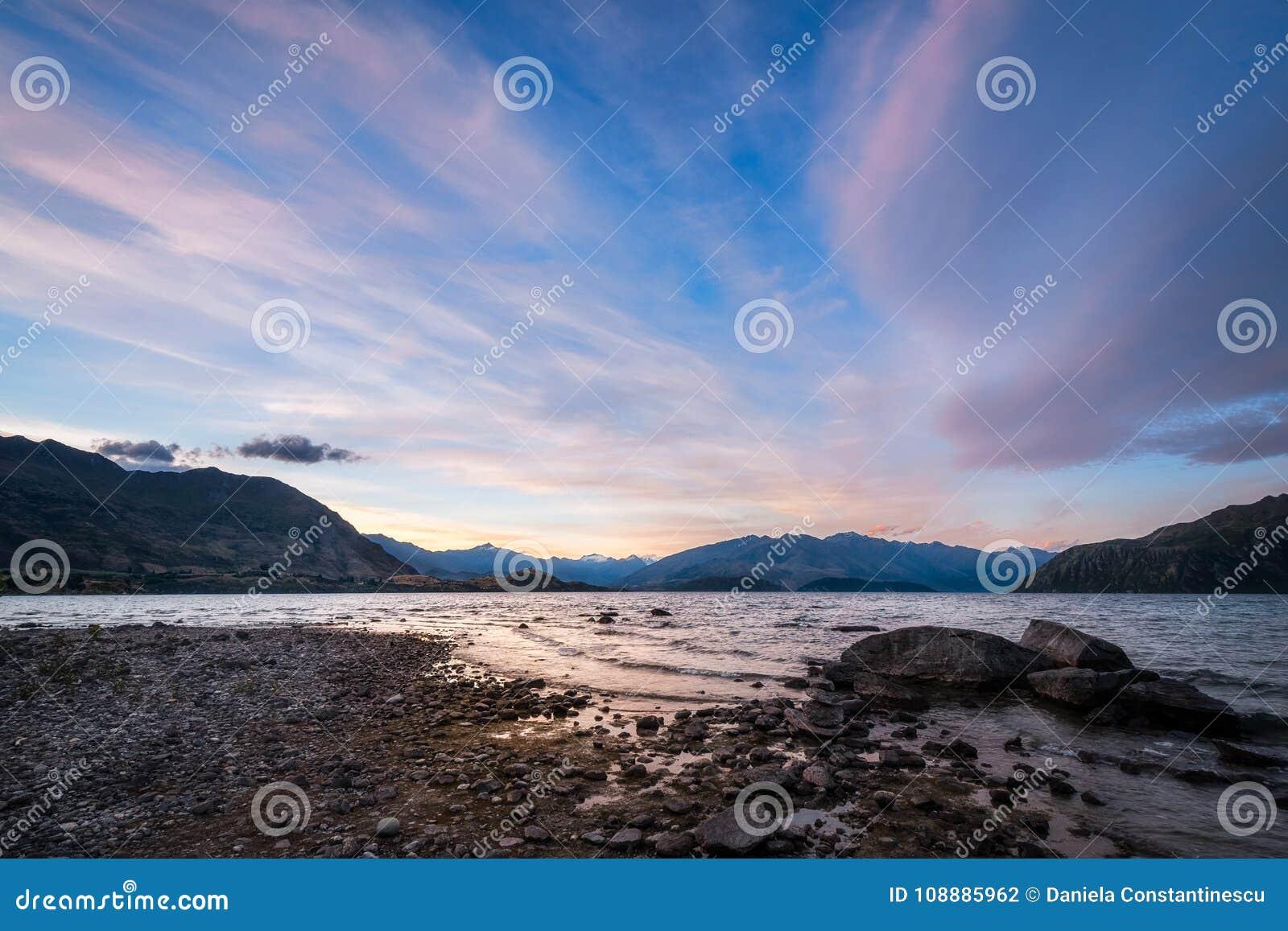 Summer Sunset at Lake Wanaka
