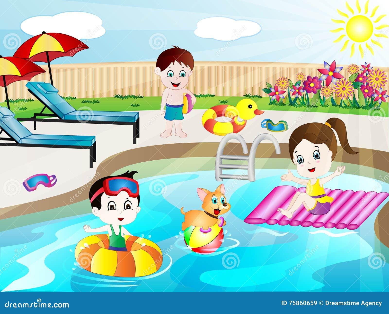Kids swimming clipart  Swimming Stock Illustrations – 43,982 Swimming Stock Illustrations ...
