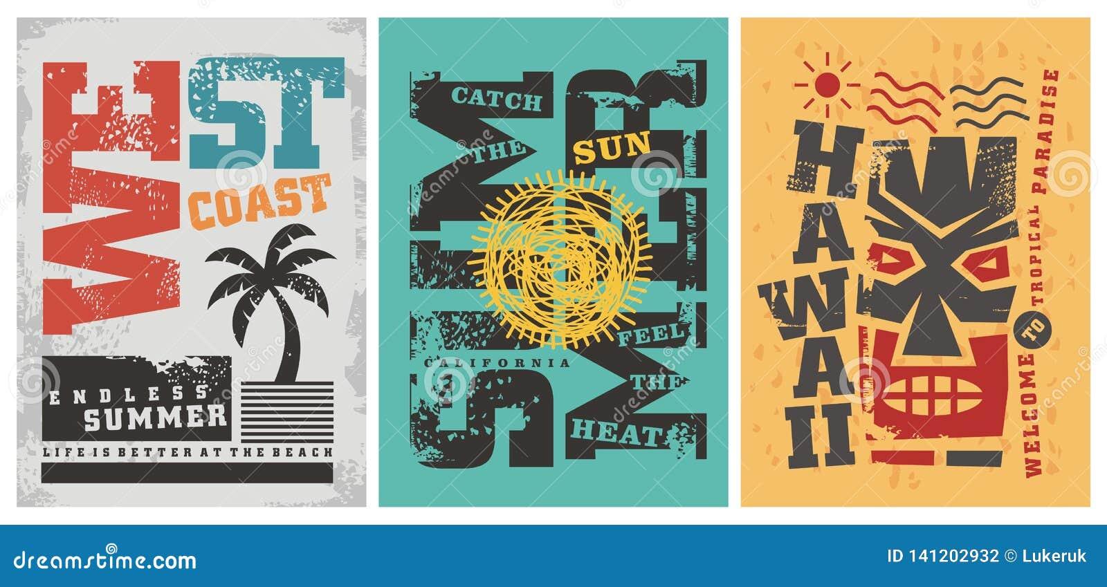 Summer T Shirt Graphic Designs Stock Vector - Illustration of sport