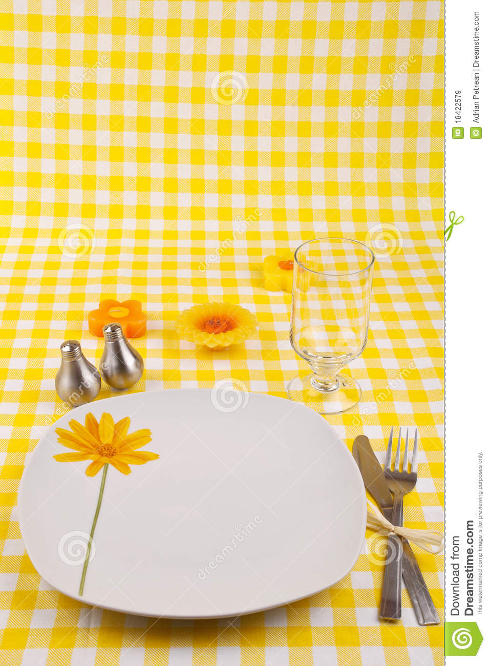 Summer Table Setting Royalty Free Stock Images Image