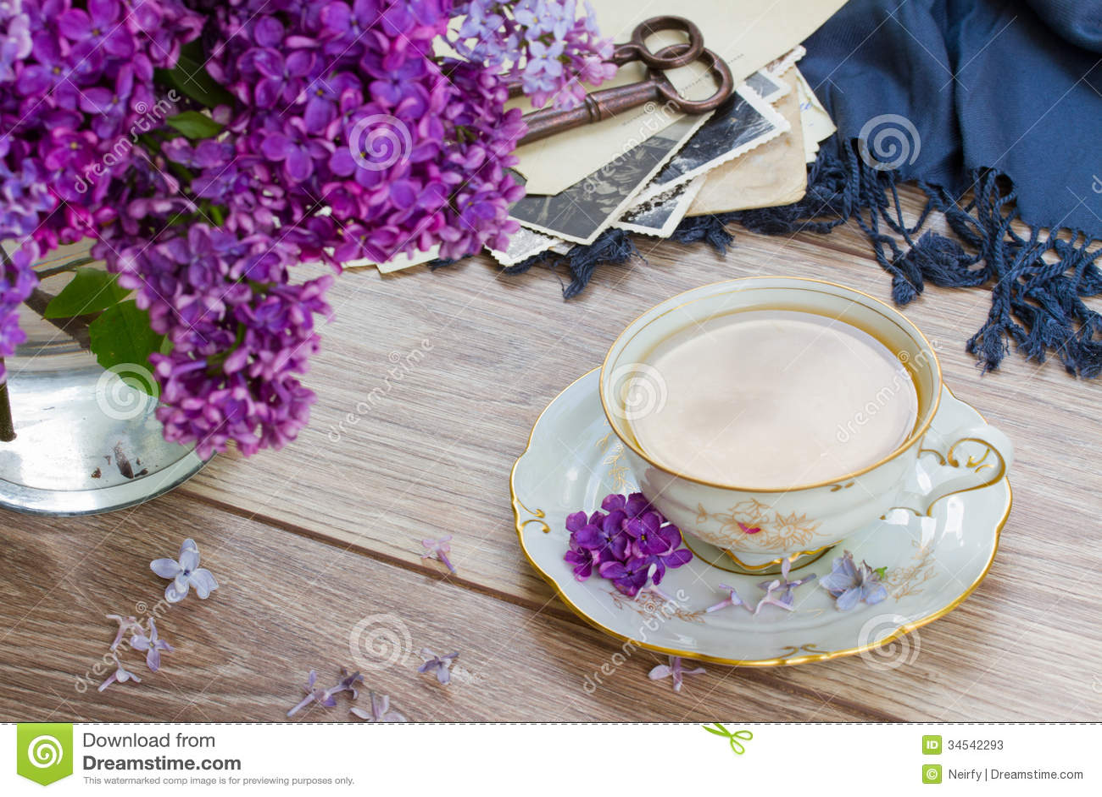 summer tea time stock image image of antique breakfast 34542293. Black Bedroom Furniture Sets. Home Design Ideas