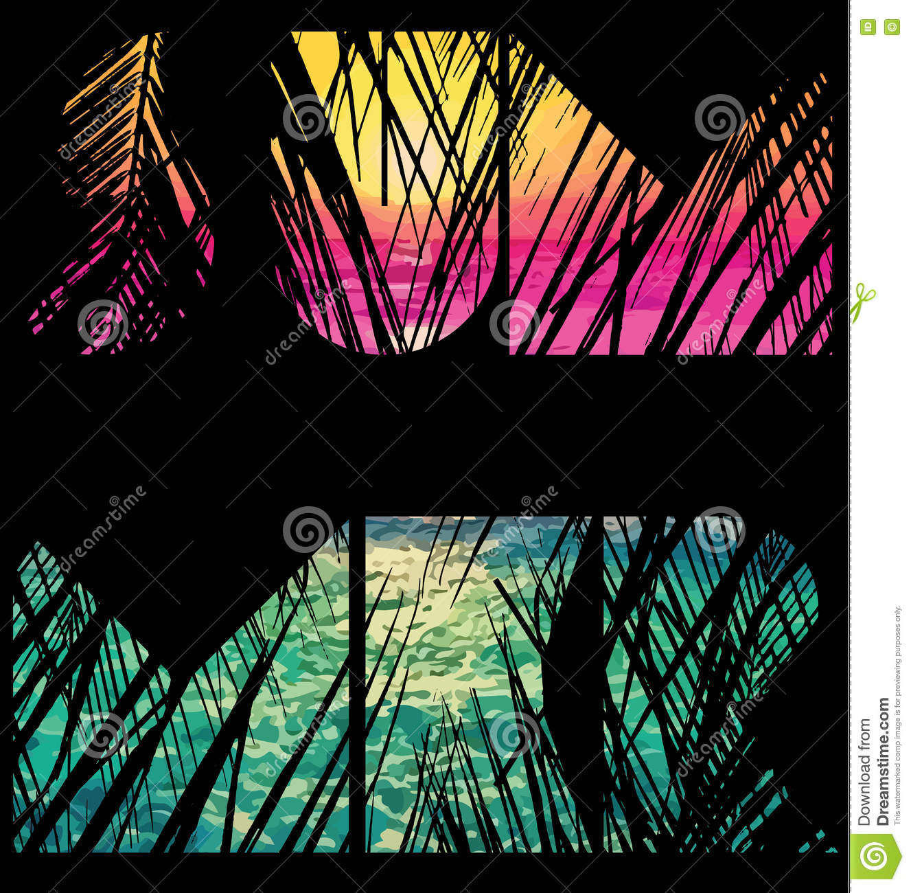 Summer Tee Graphic Design Stock Vector Image 76020099