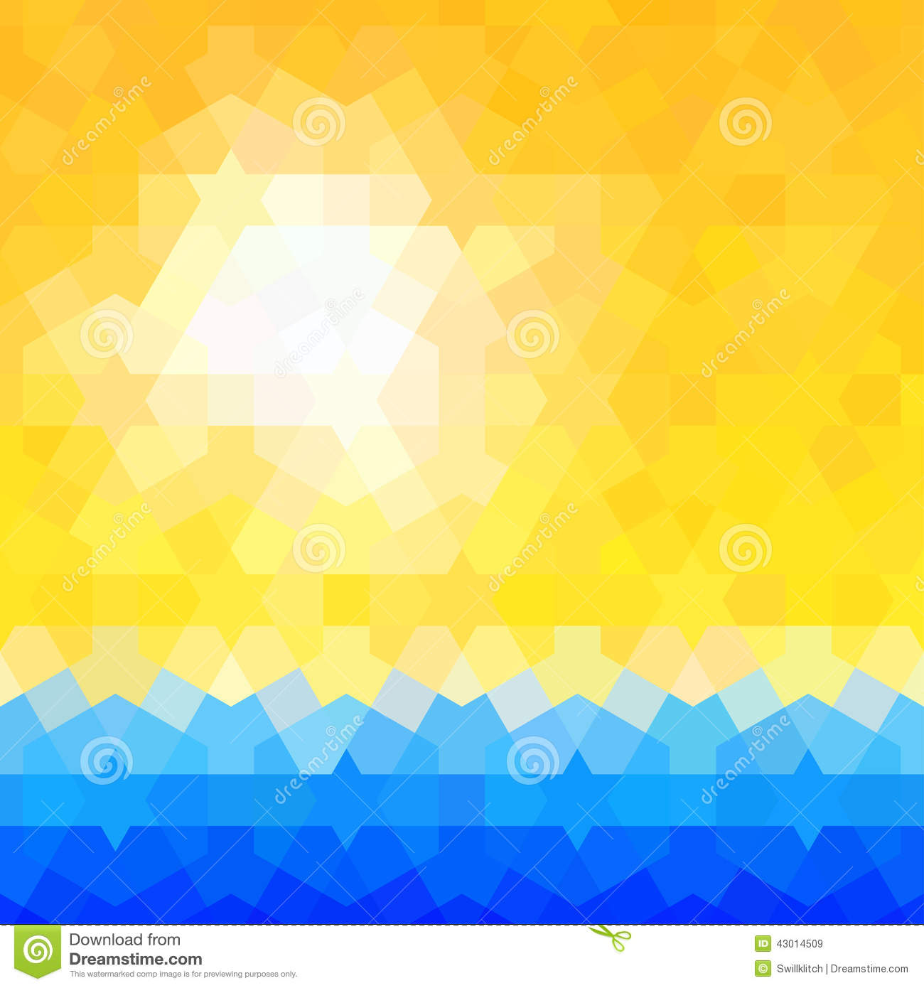 Summer Themed Background With Classic Arabic