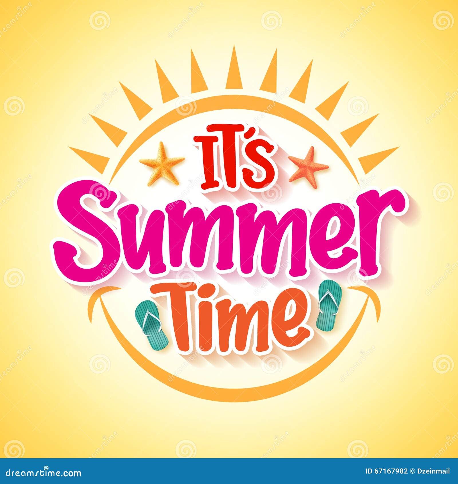 summer time poster vector illustration