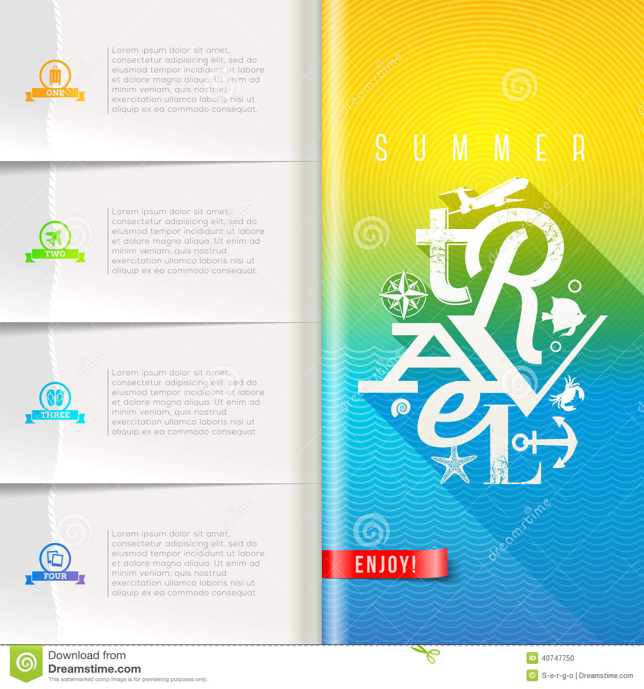 summer travel booklet template design stock vector illustration of