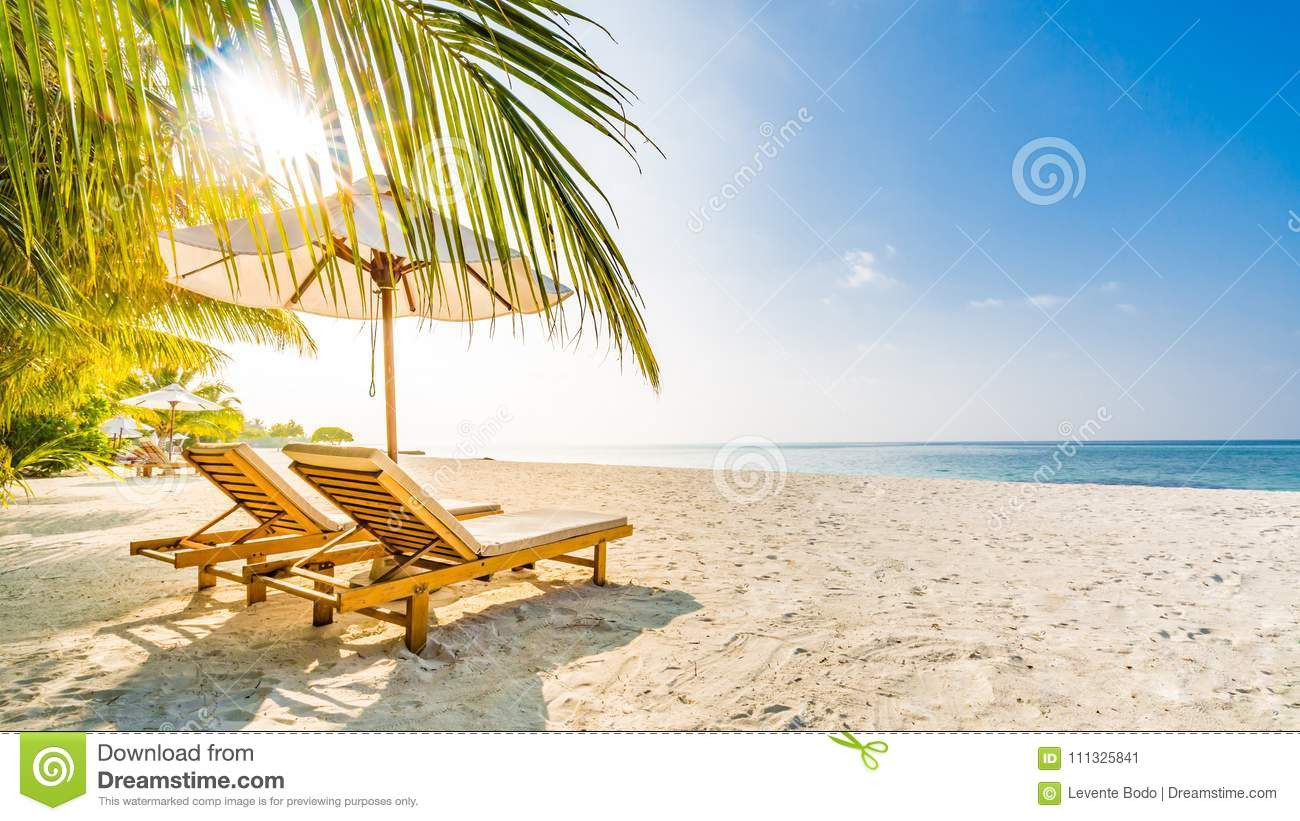 Summer Travel Destination Background. Summer Beach Scene