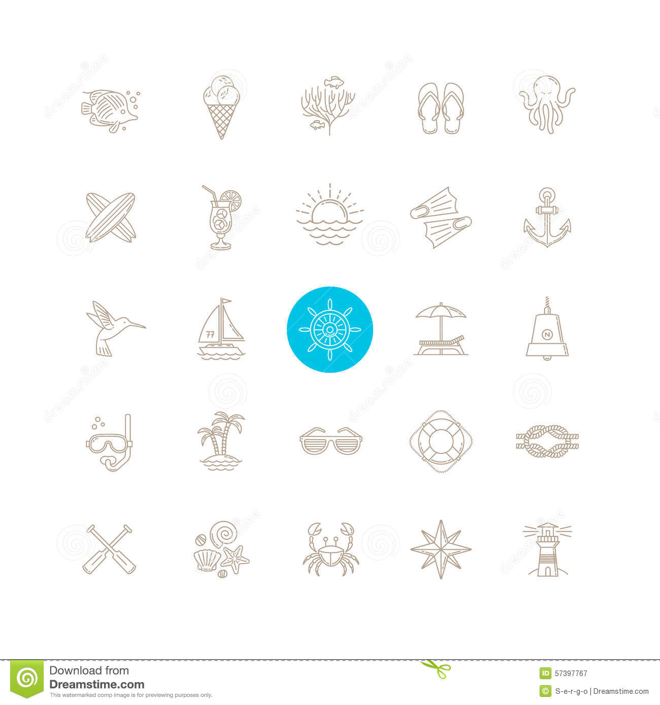 Line Drawing Icons : Summer travel icon set stock vector image of flip