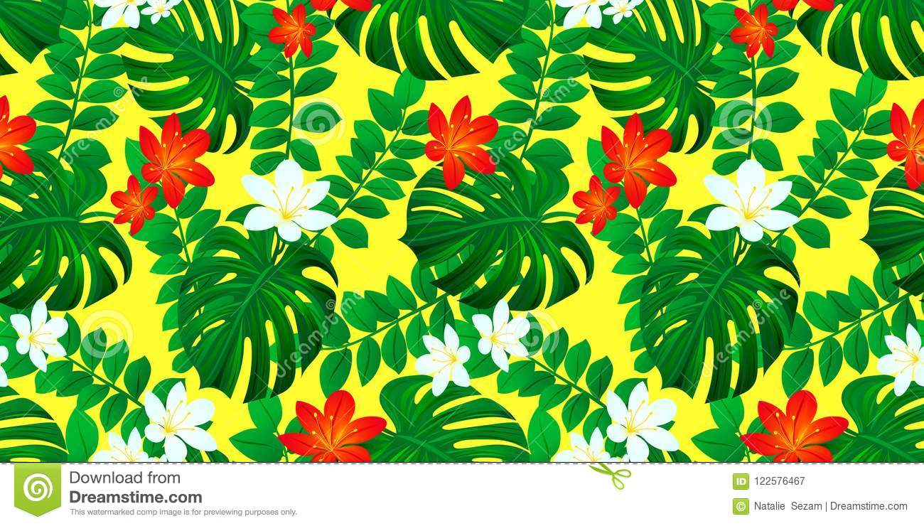 Jungle Multi Coloured Tropical Floral Wallpaper Home Furniture