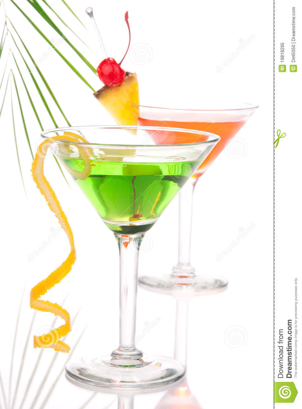 Summer tropical martini cocktails with vodka royalty free for Vodka based summer cocktails