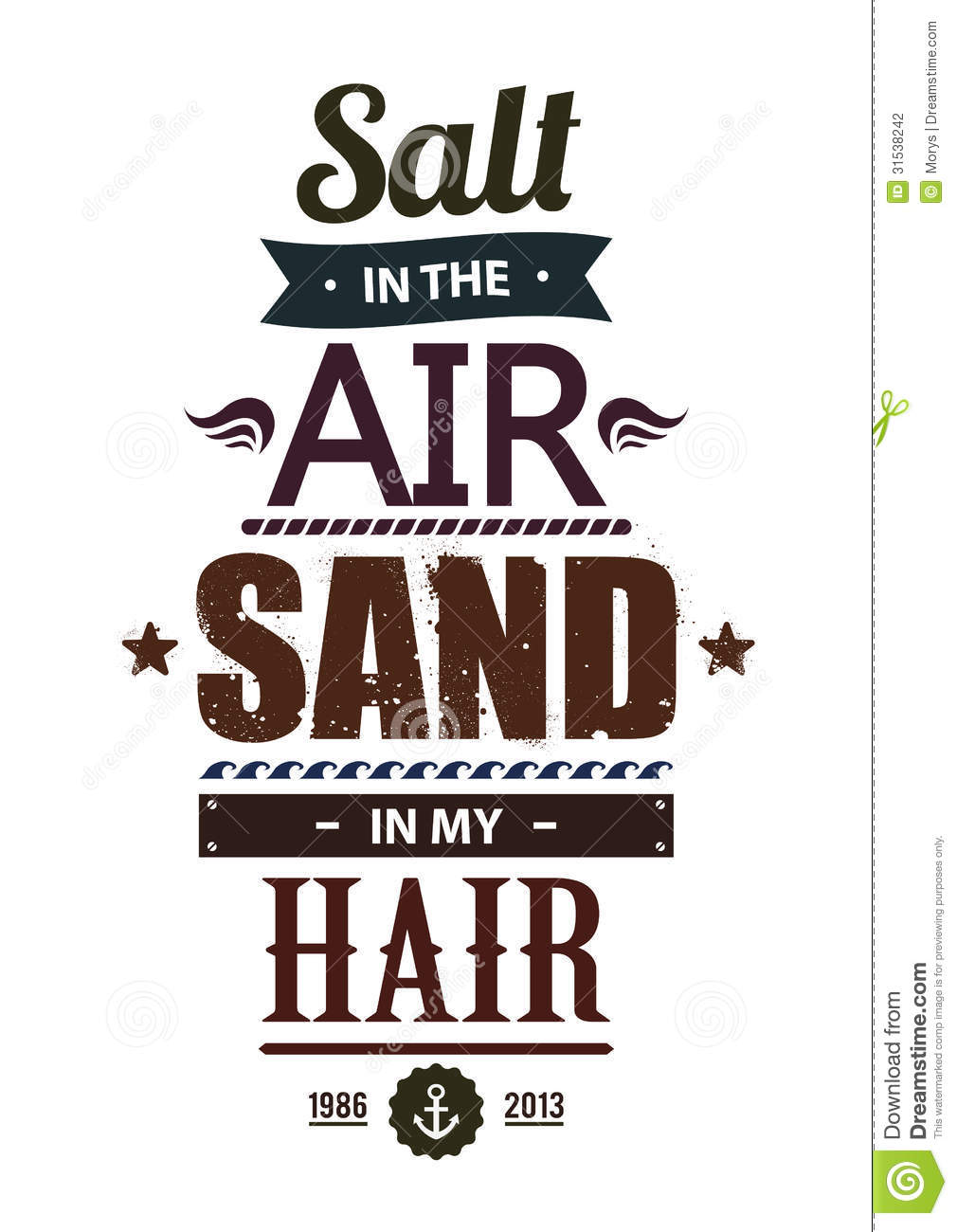 Vector Drawing Lines Quotes : Summer typography stock photography image
