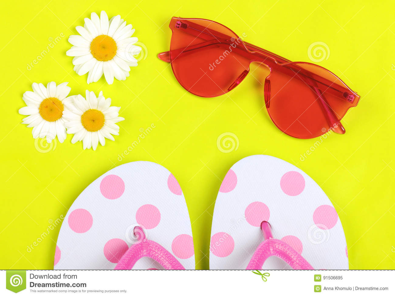 1e7f41582f8 Summer Vacation Accessories Stock Image - Image of flip