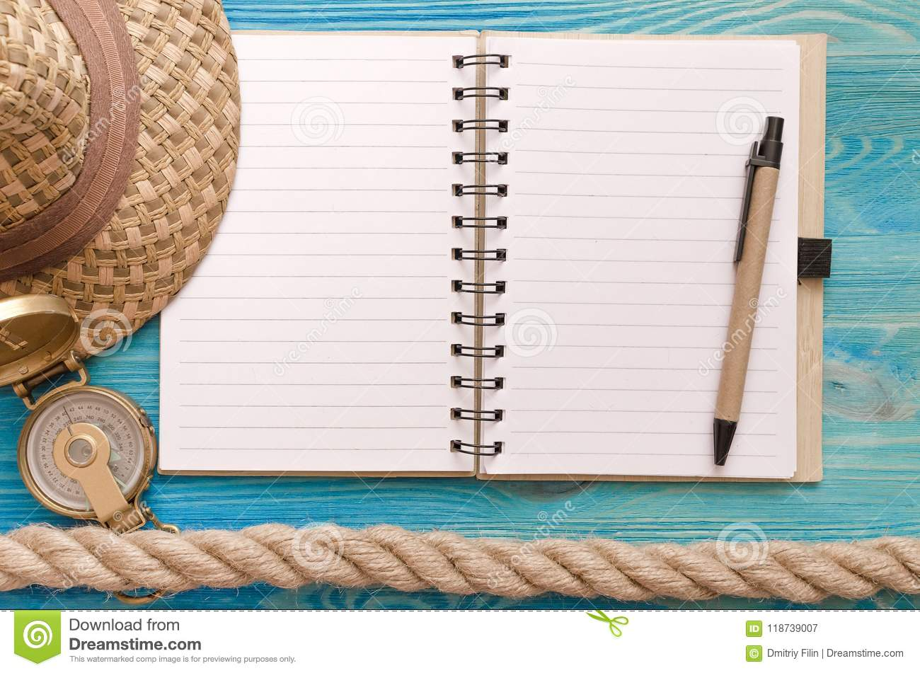 summer to do list notepad summer vacation background stock image