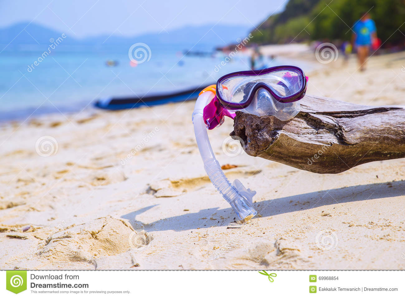 4e45662ae527e Summer Vacation Concept Snorkelling On The Beach Stock Photo - Image ...