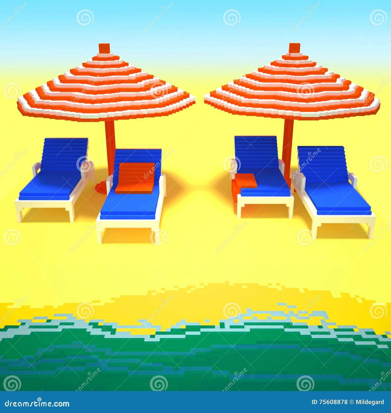 Summer vacation 3d art
