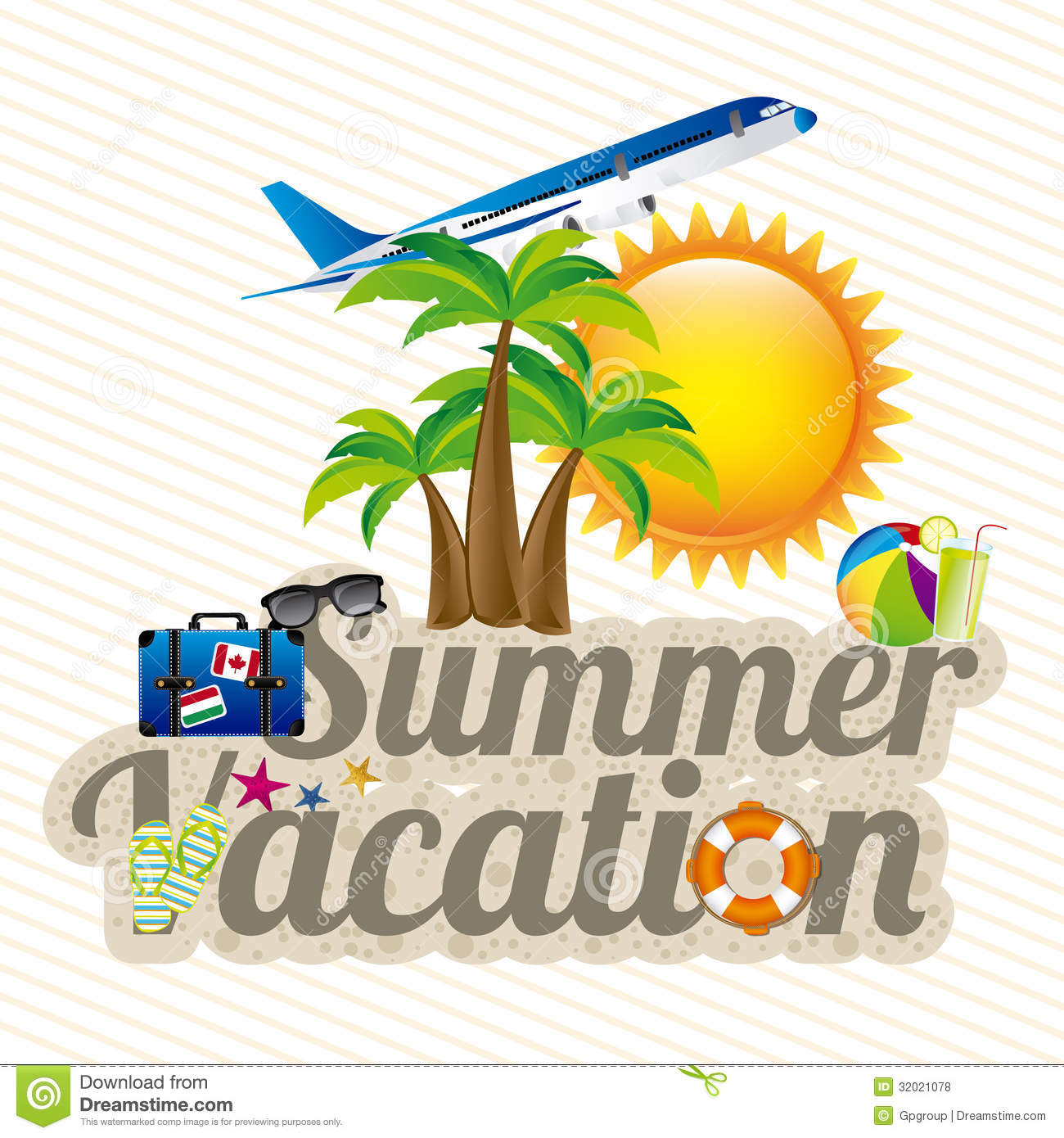 Summer vacation design over white background vector illustration.