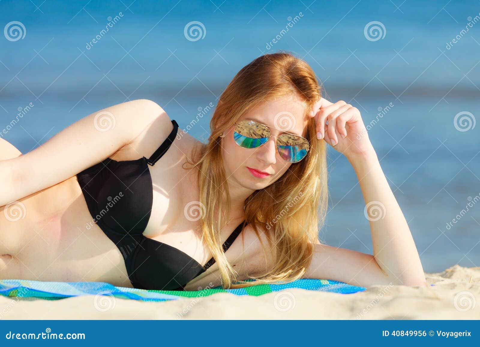 image Summer swimsuit girls relax lower body japa