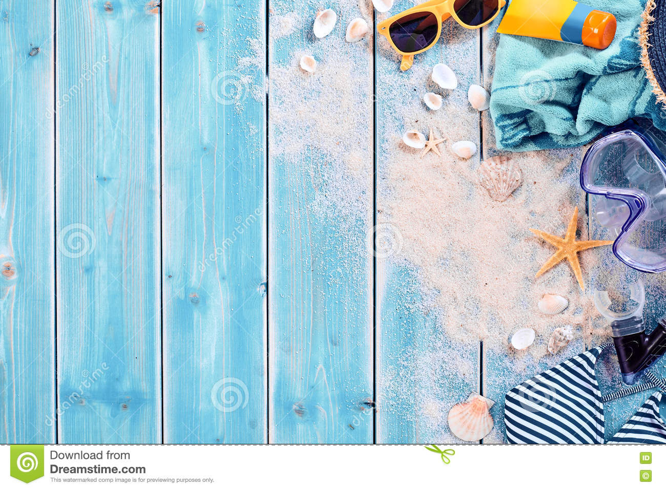 Summer Vacation Swimming Background Theme Stock Photo ...
