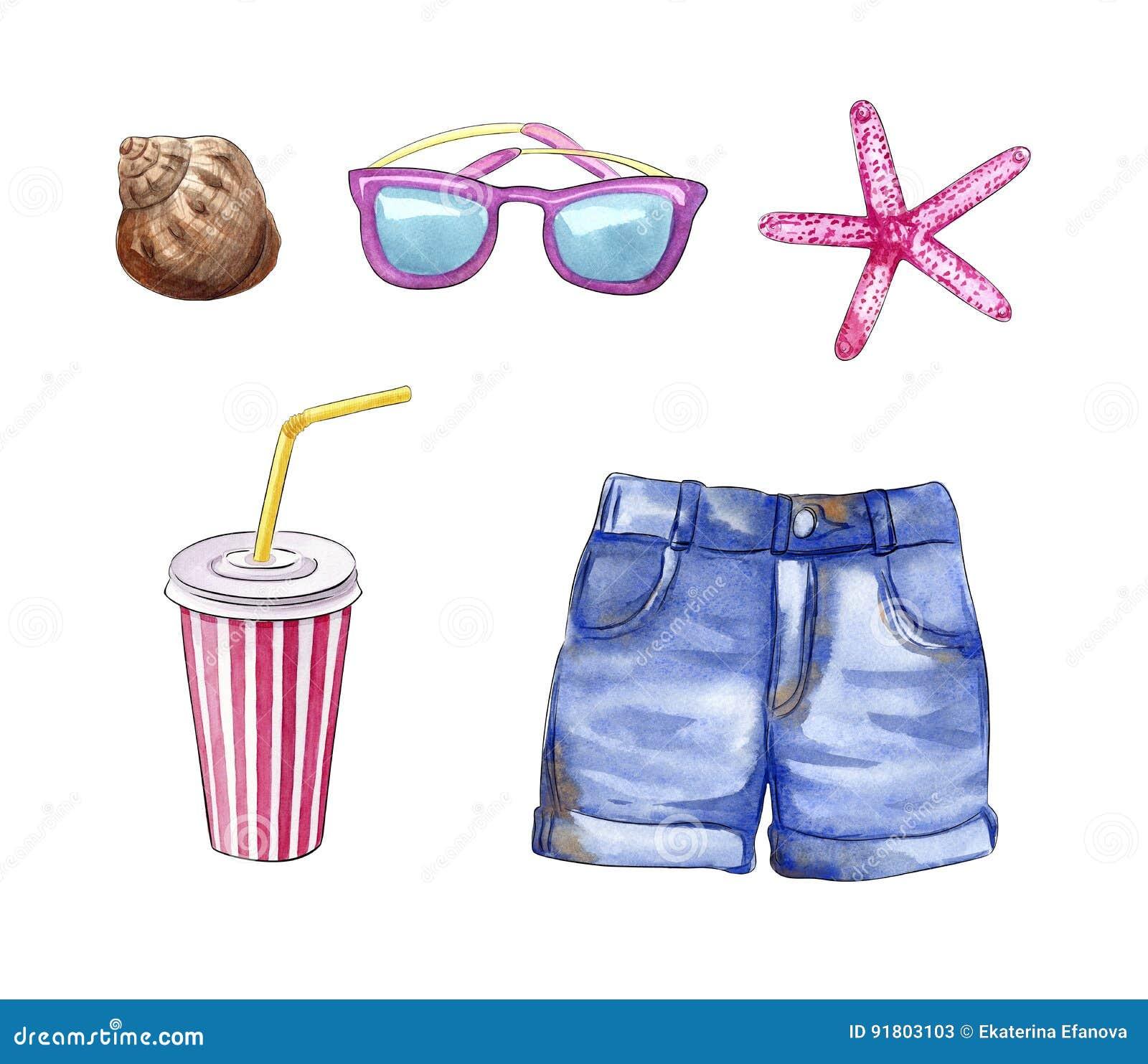 Summer Vacation Travel Stuff, Beach Holidays Objects ...