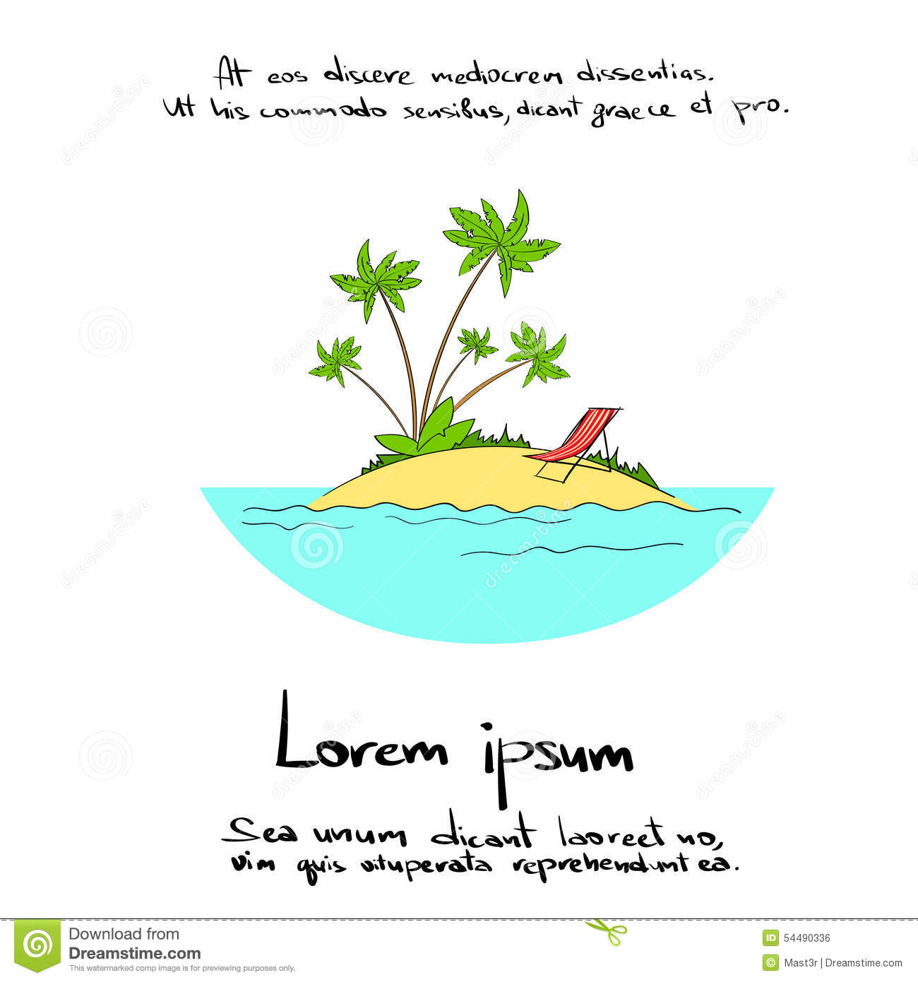 how to draw tropical island