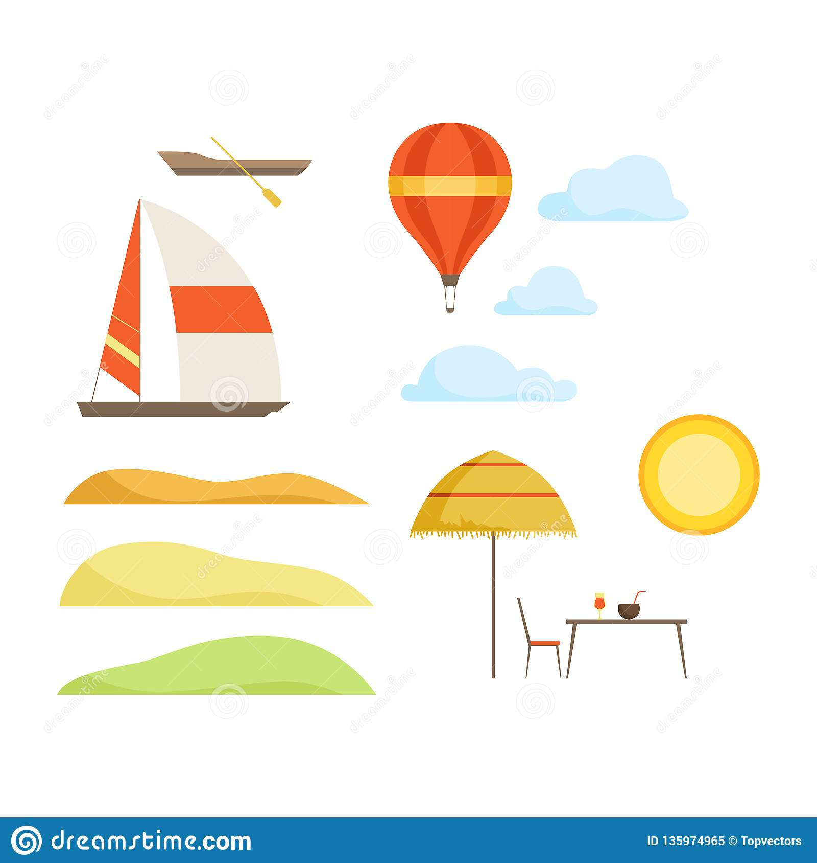 Summer Vacation, Tropical Resort Landscape Constructor ...