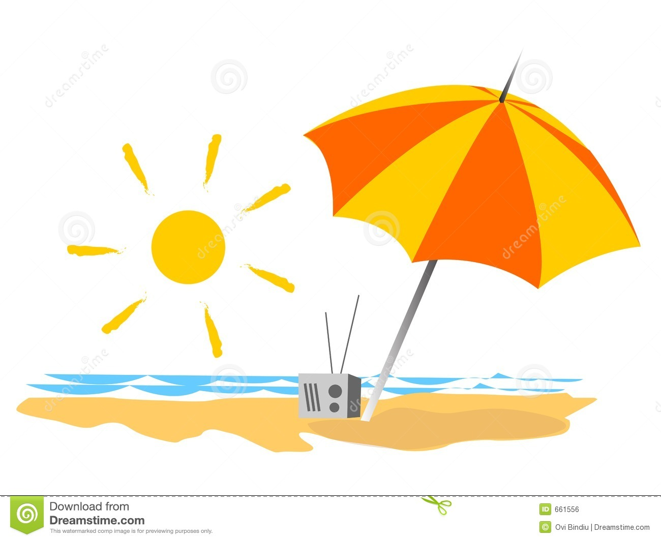 Summer Vacations On The Beach Royalty Free Stock Image - Image: 661556