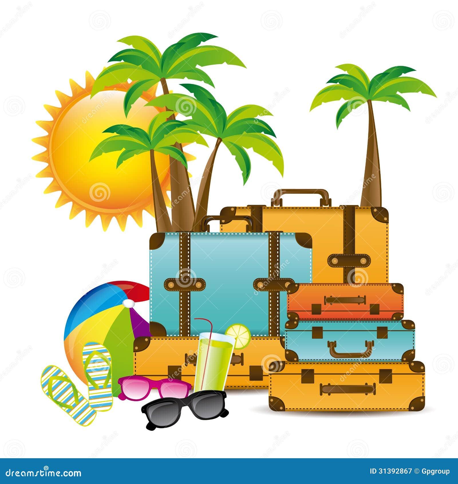 Summer Vacations Design Stock Vector Illustration Of Rest