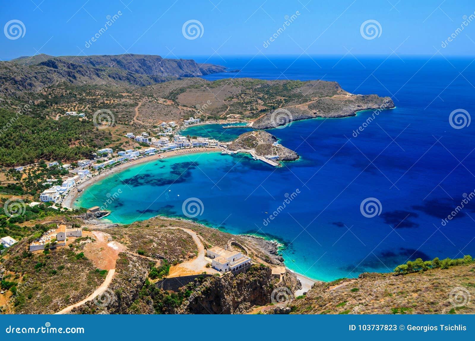 Kapsali village at Kithera island in Greece.