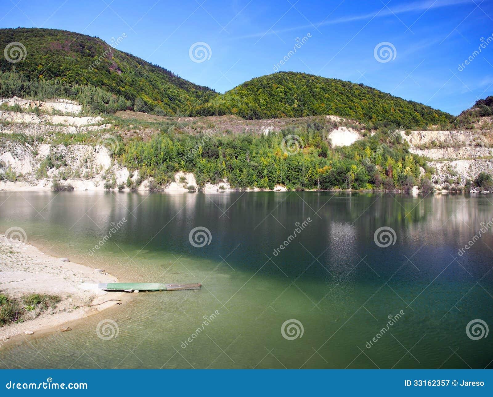 Summer view of Sutovo lake, Slovakia