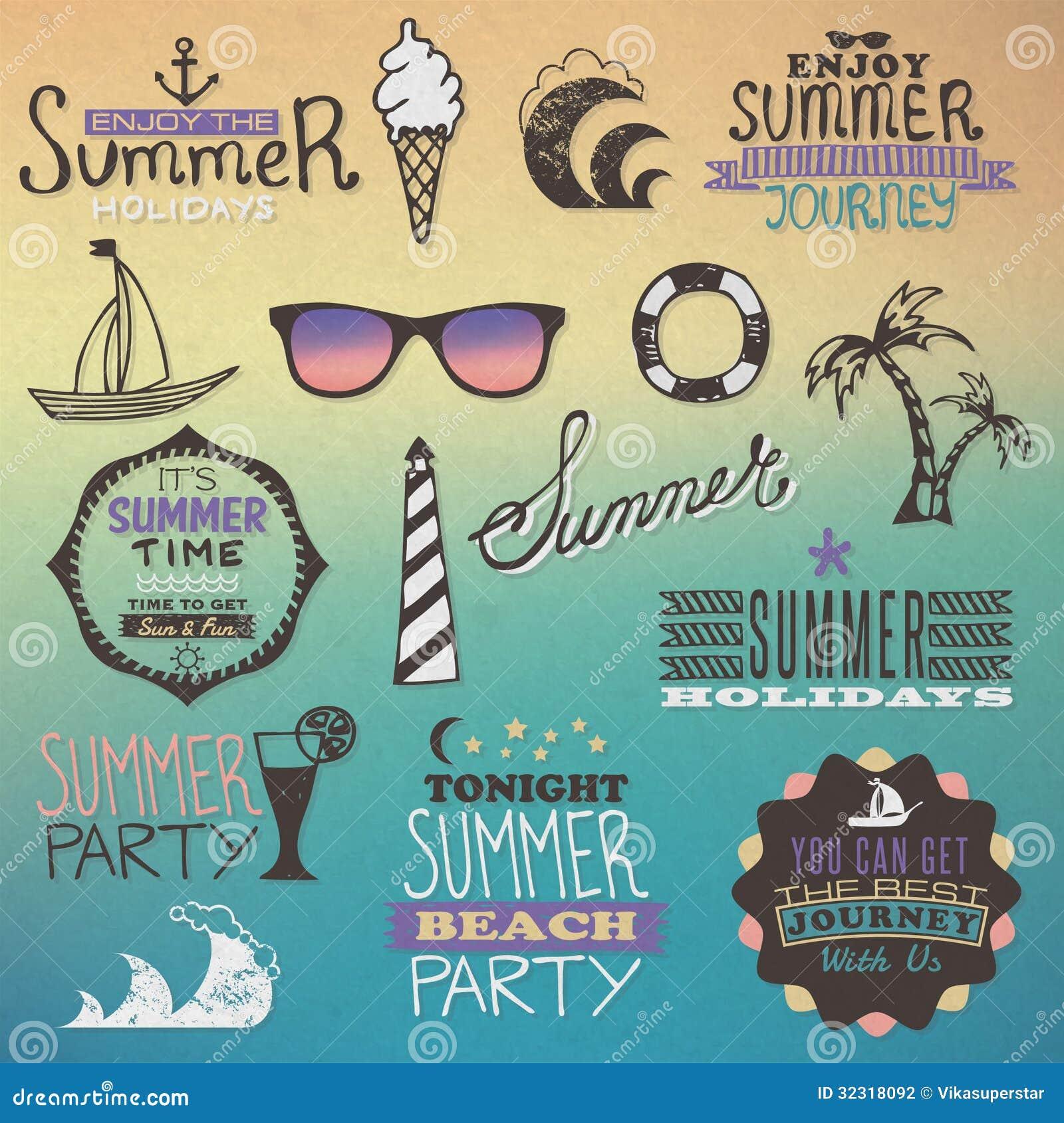 Summer Vintage Elements Stock Photography Image 32318092