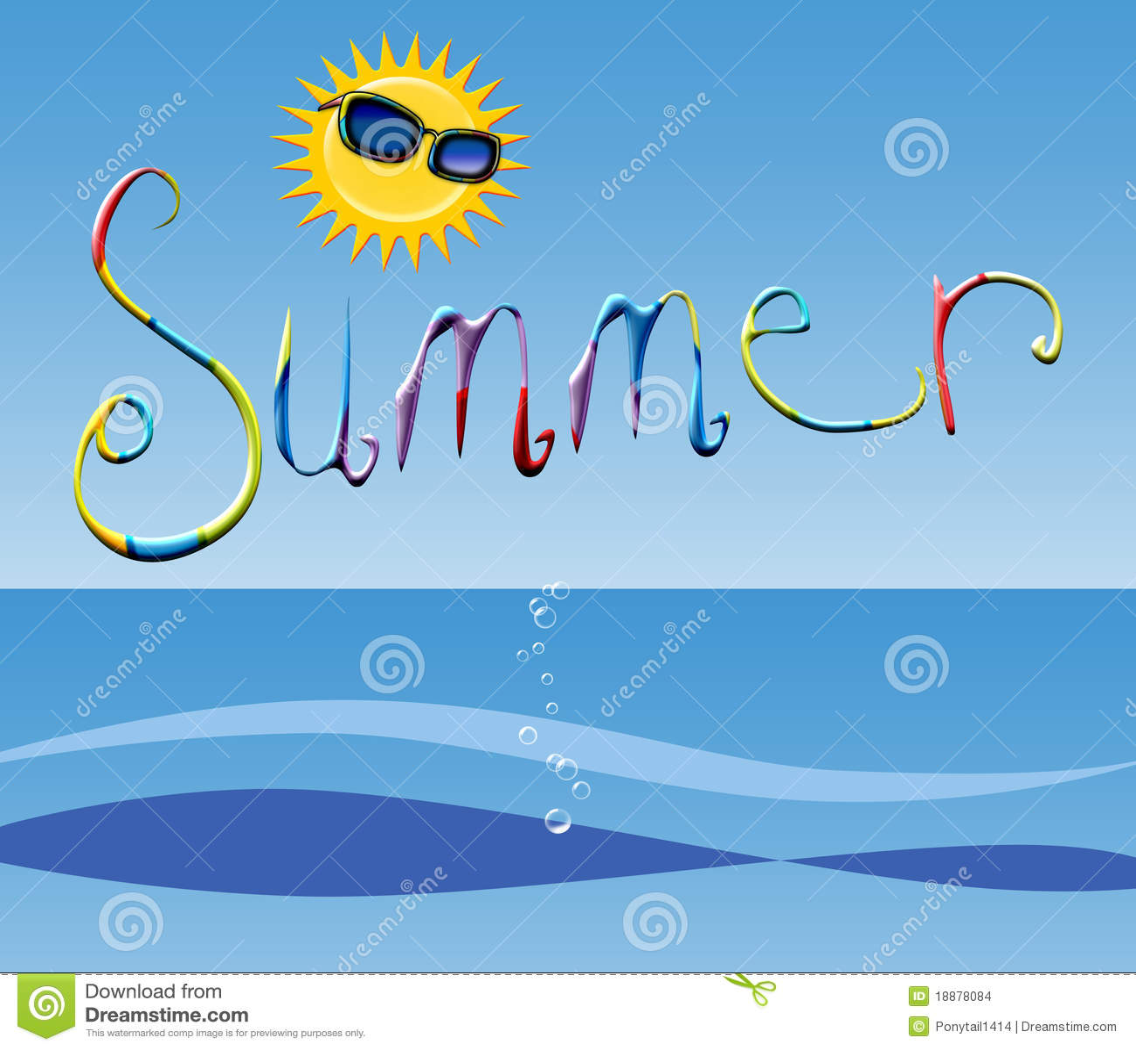 Summertime Stock Illustration Image Of Blue Stress