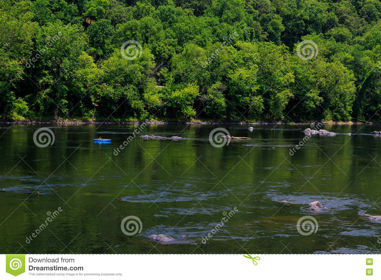 Summertime On The Delaware River Easton Pa Editorial Photography