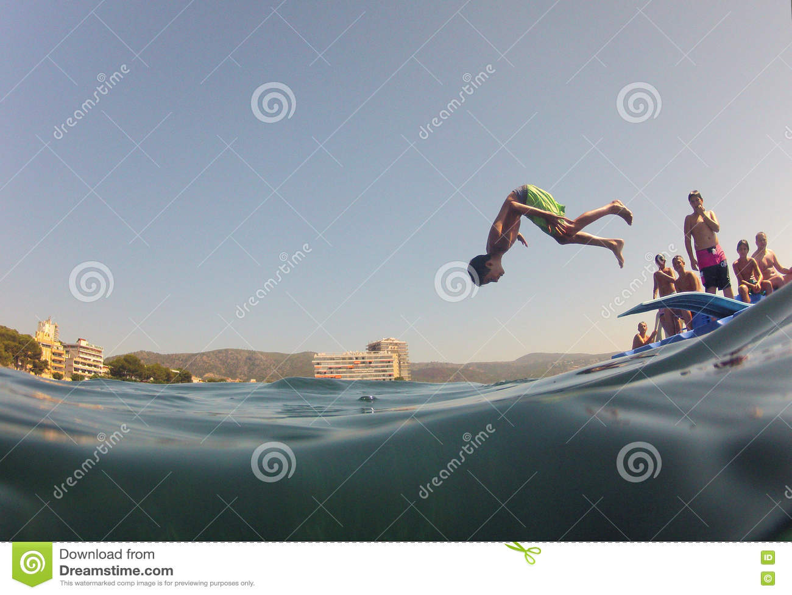 Summertime somersault