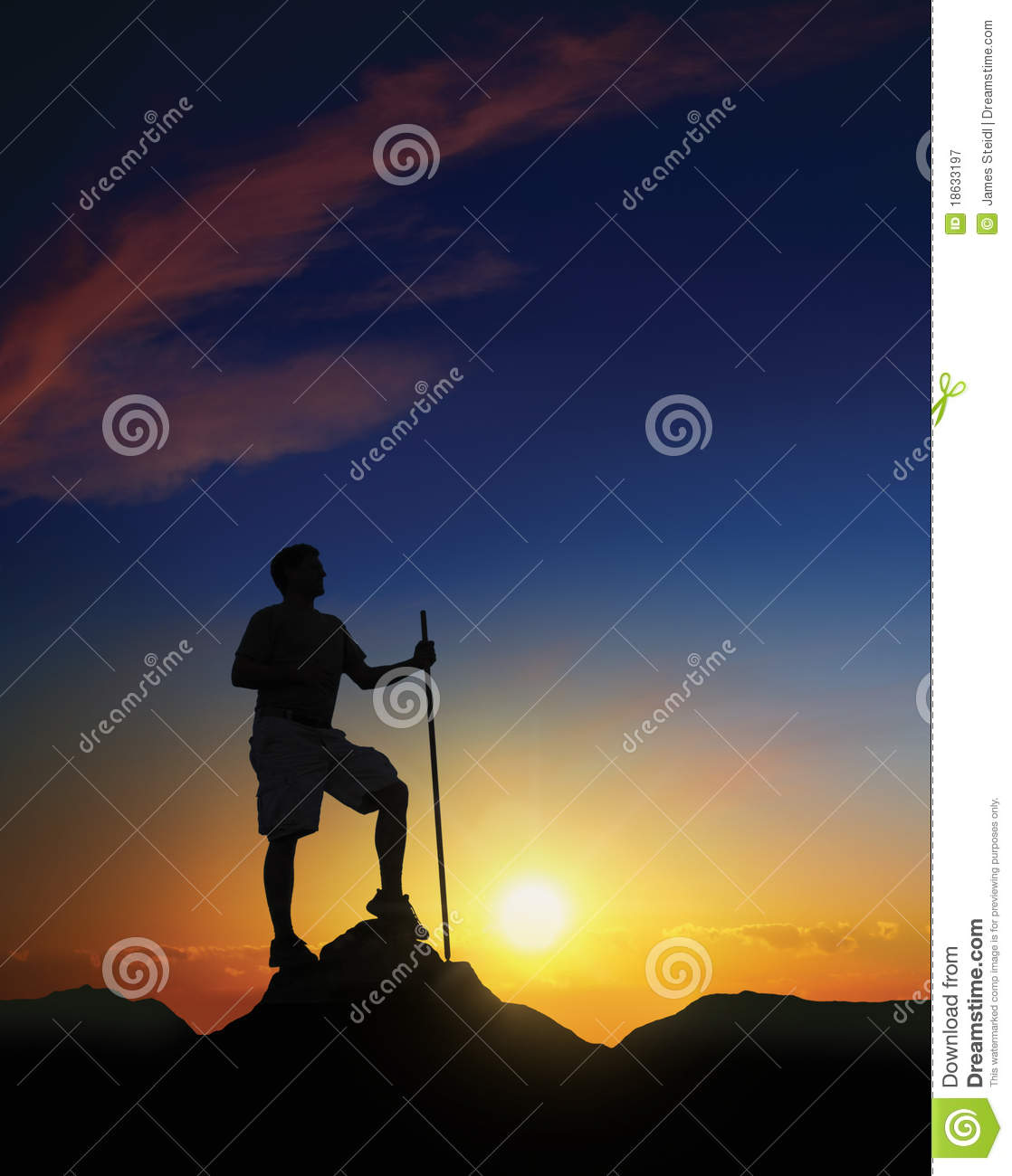 Download Summit at Dawn stock image. Image of achievement, silhouette - 18633197