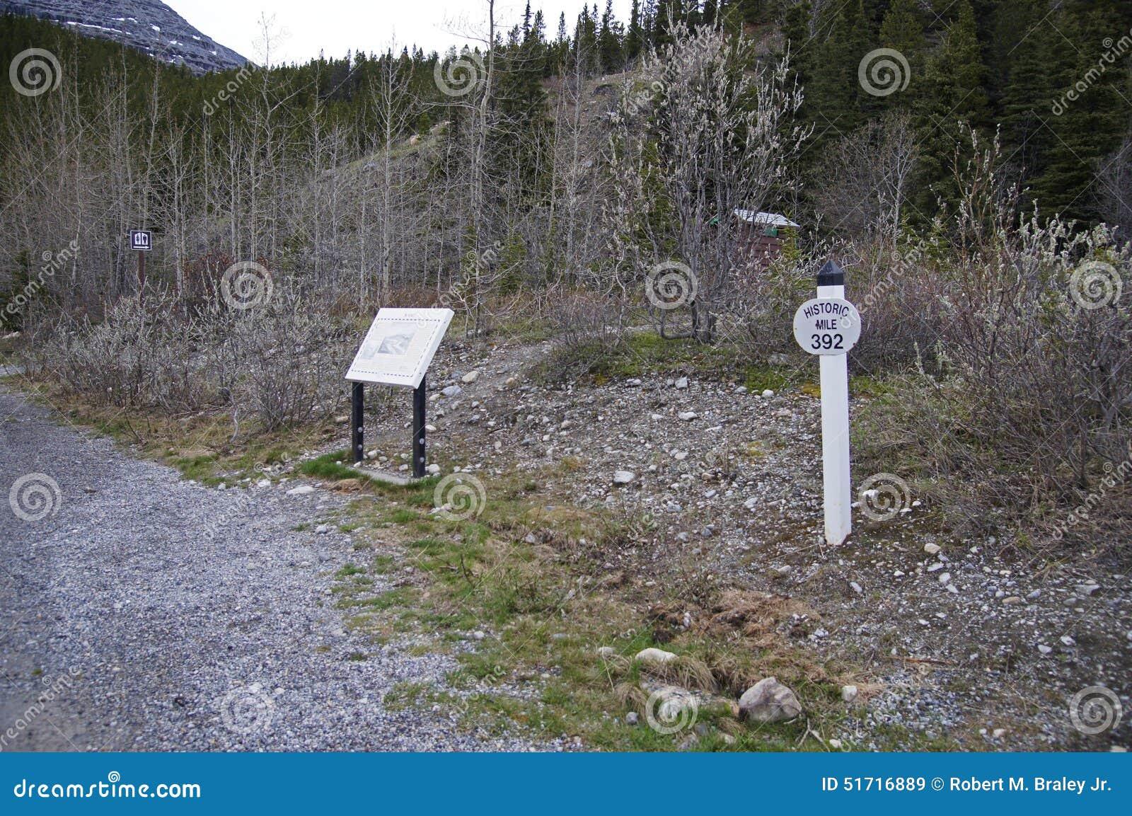 Summit Lake Sign Alaska Highway Canada