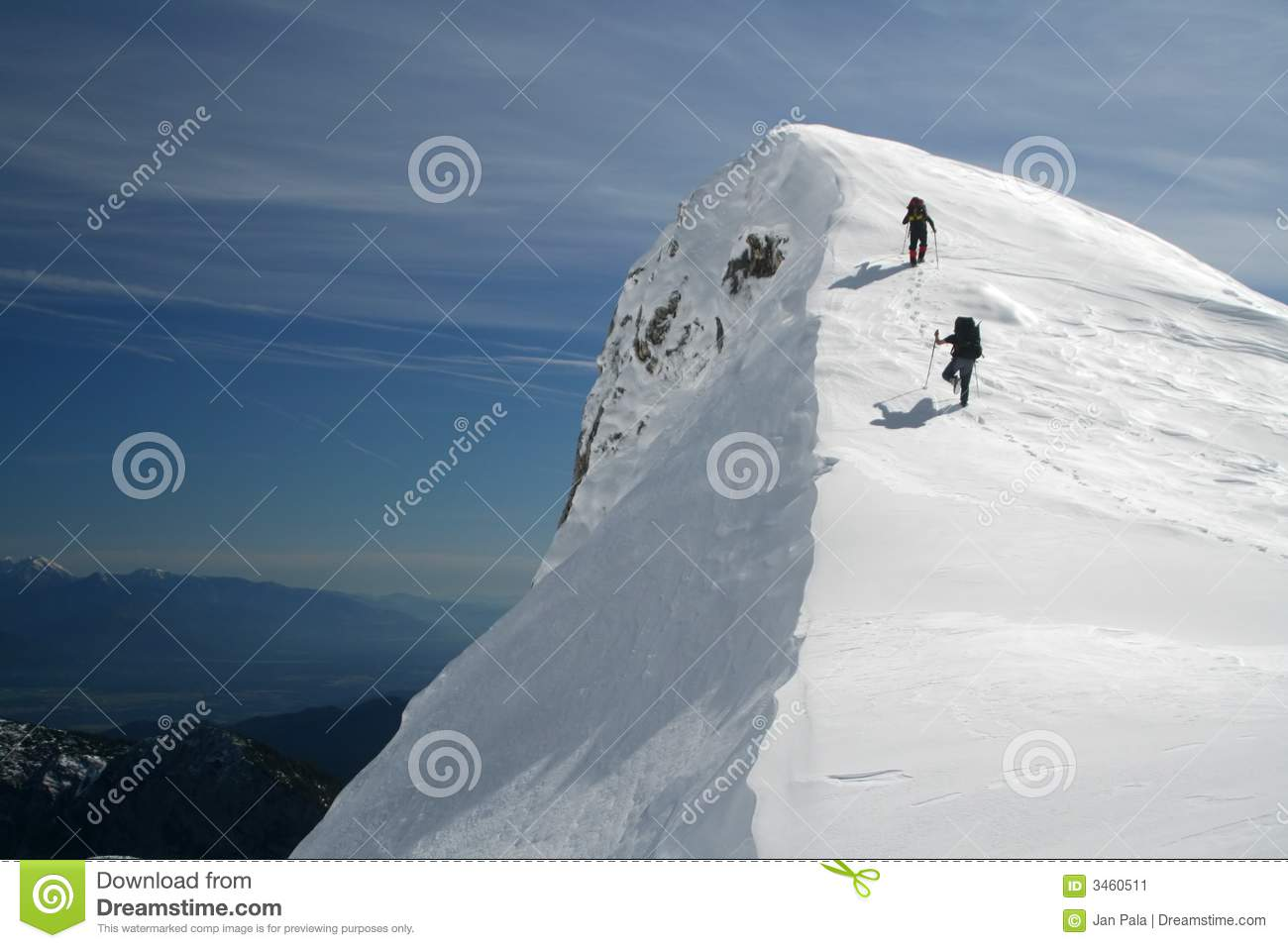 Download Summit is near stock image. Image of covered, panorama - 3460511