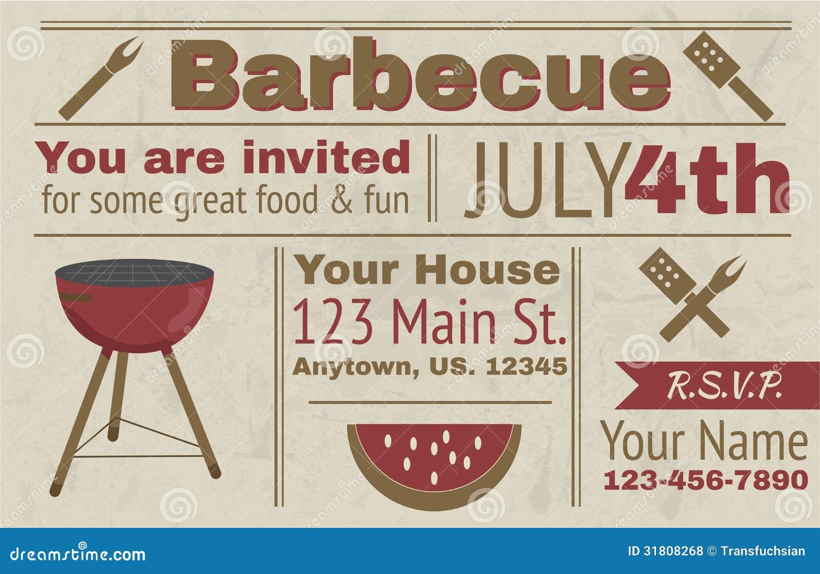 summer bbq invitation template