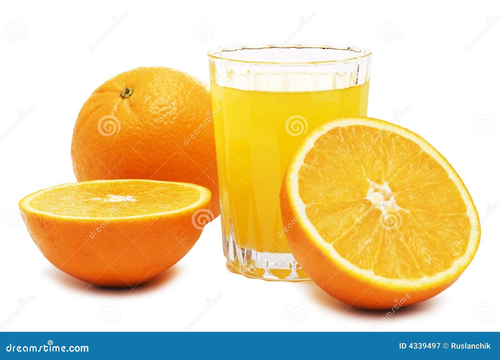 Sumo de laranja e frutas