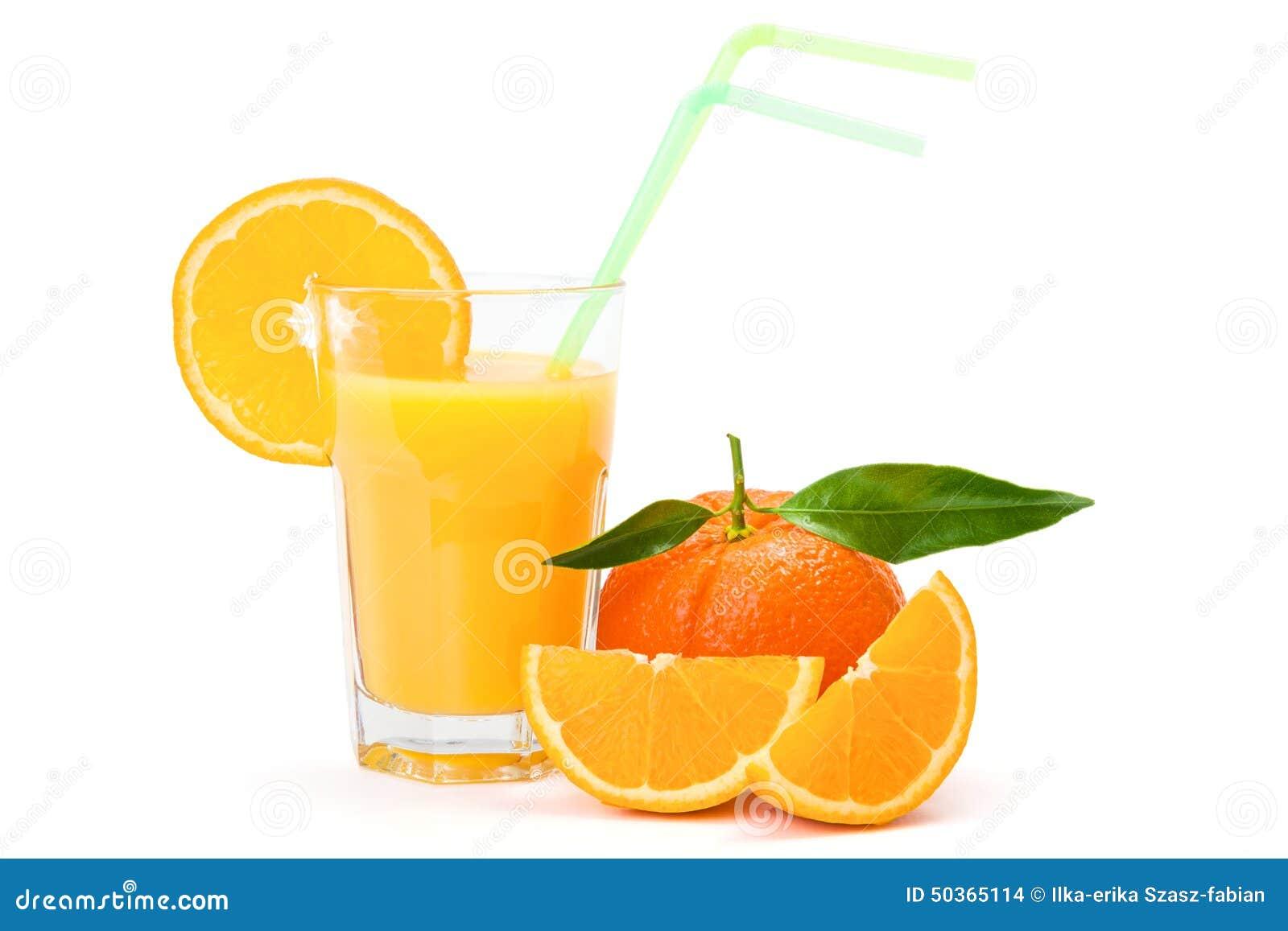 Sumo de laranja no vidro