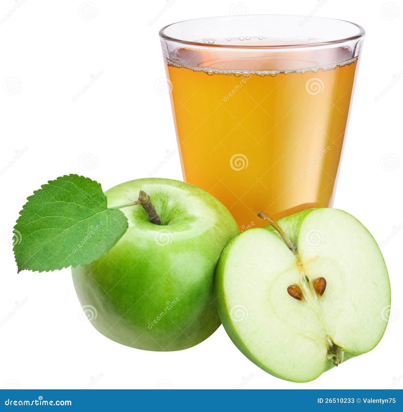 Sumo de maçã com maçã madura