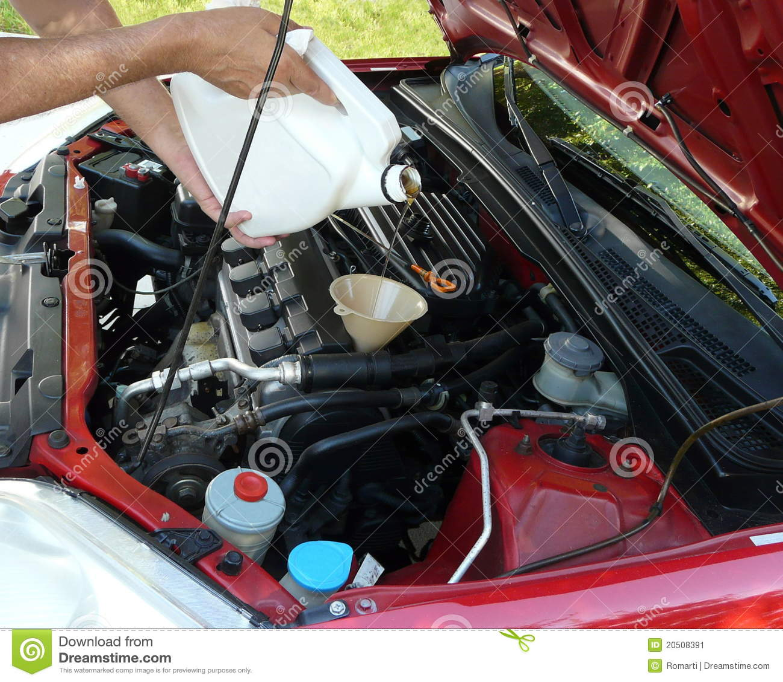 Sumujący samochodowy motorowy olej
