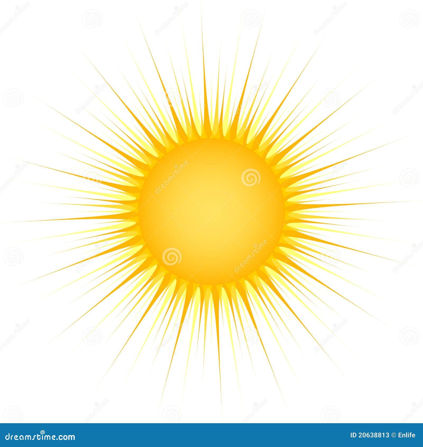 Sun avec des rayons