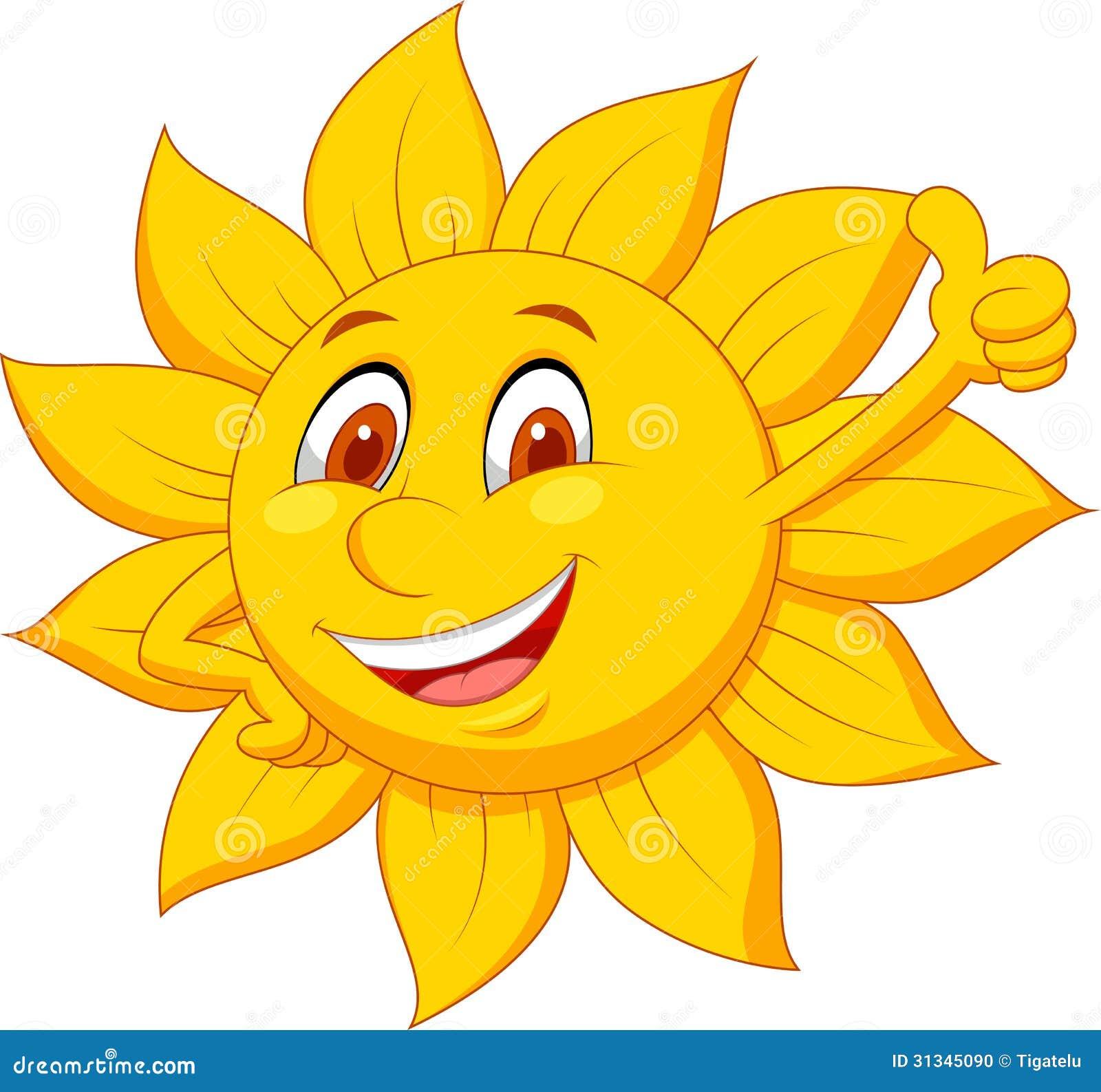 Sun Cartoon Character With Thumb Up Illustration 31345090 Megapixl