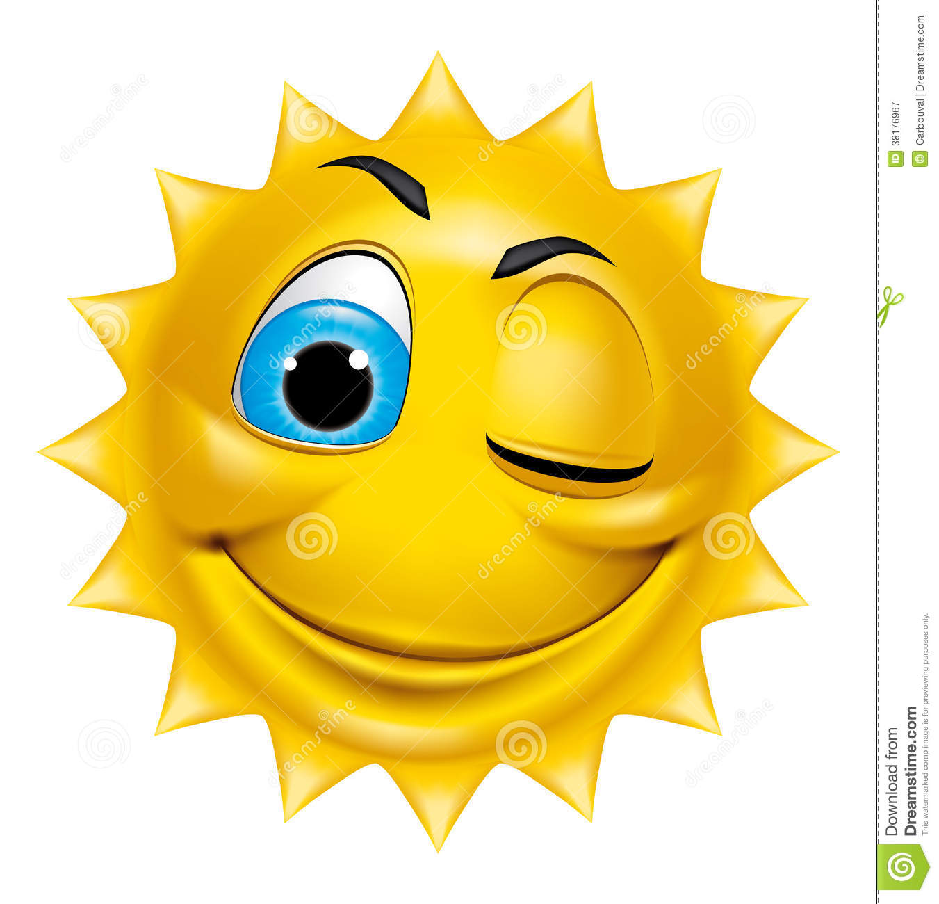 Sun Character Winking Royalty Free Stock Photography Image 38176967