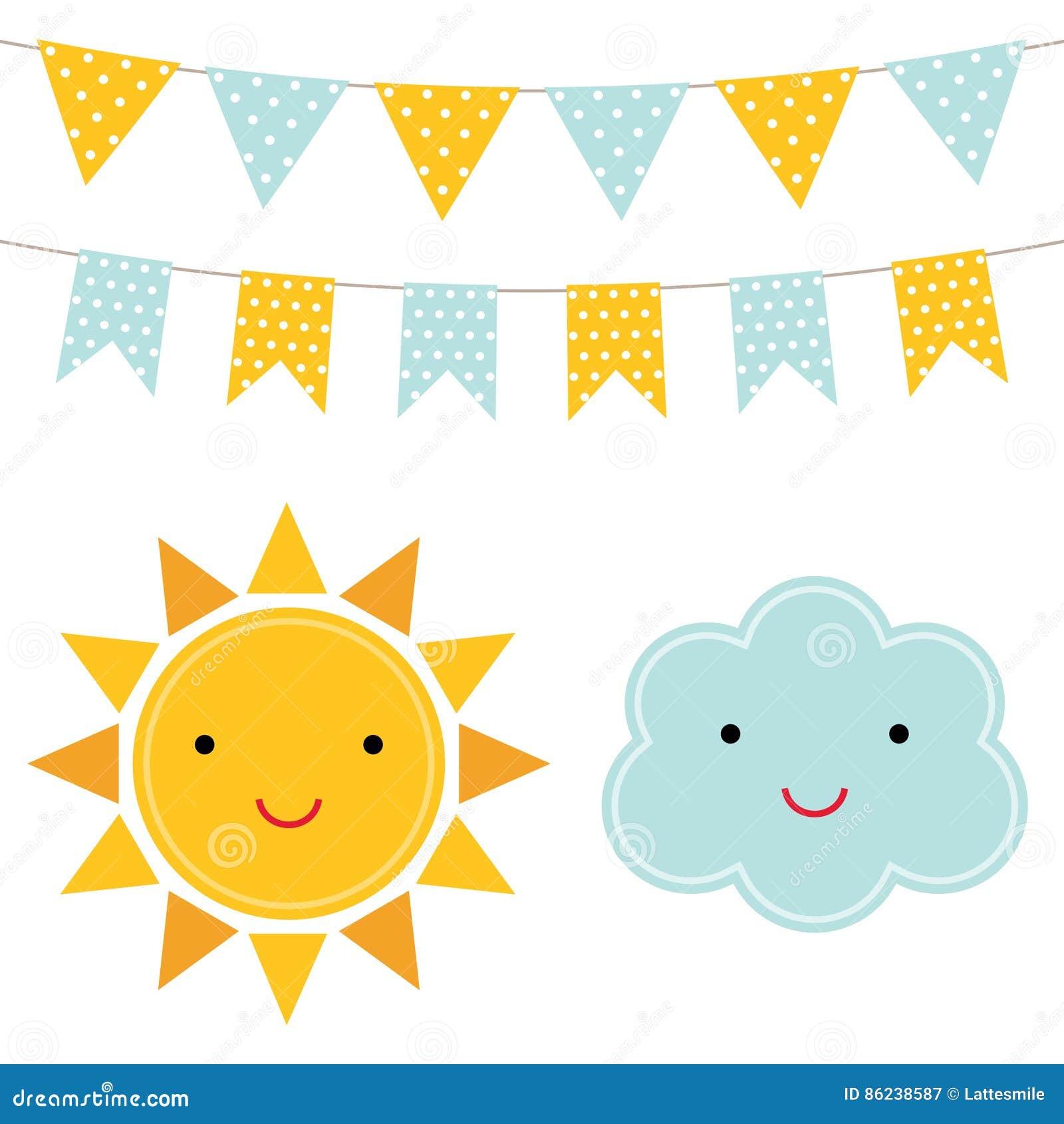 Sun and cloud cartoons