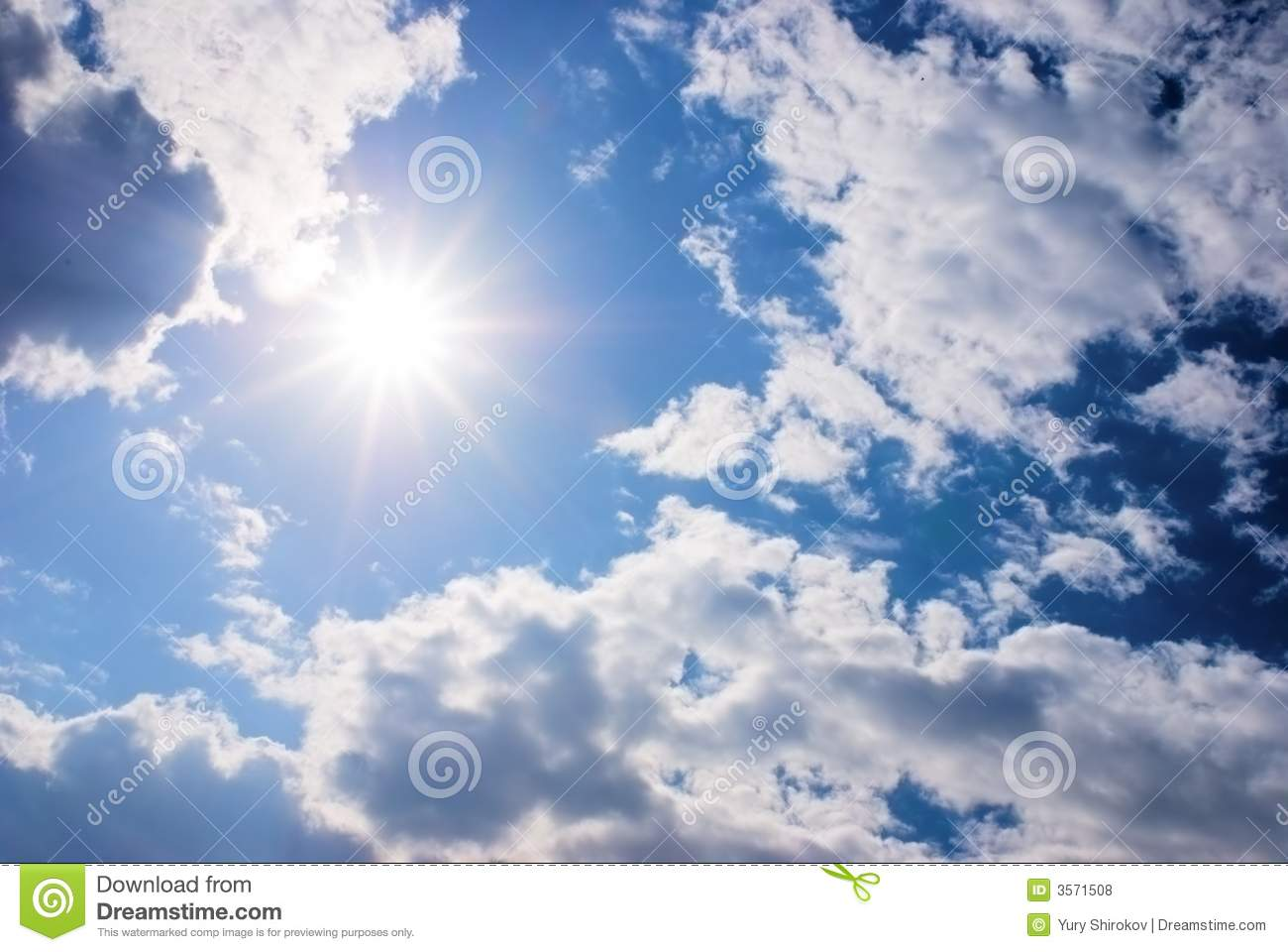 Sun And Clouds Royalty Free Stock Photos - Image: 3571508