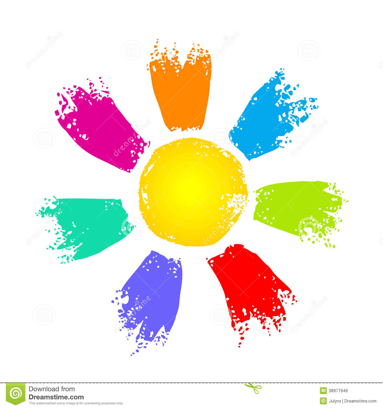 Sun With Colorful Rays Stock Vector Image Of Rays