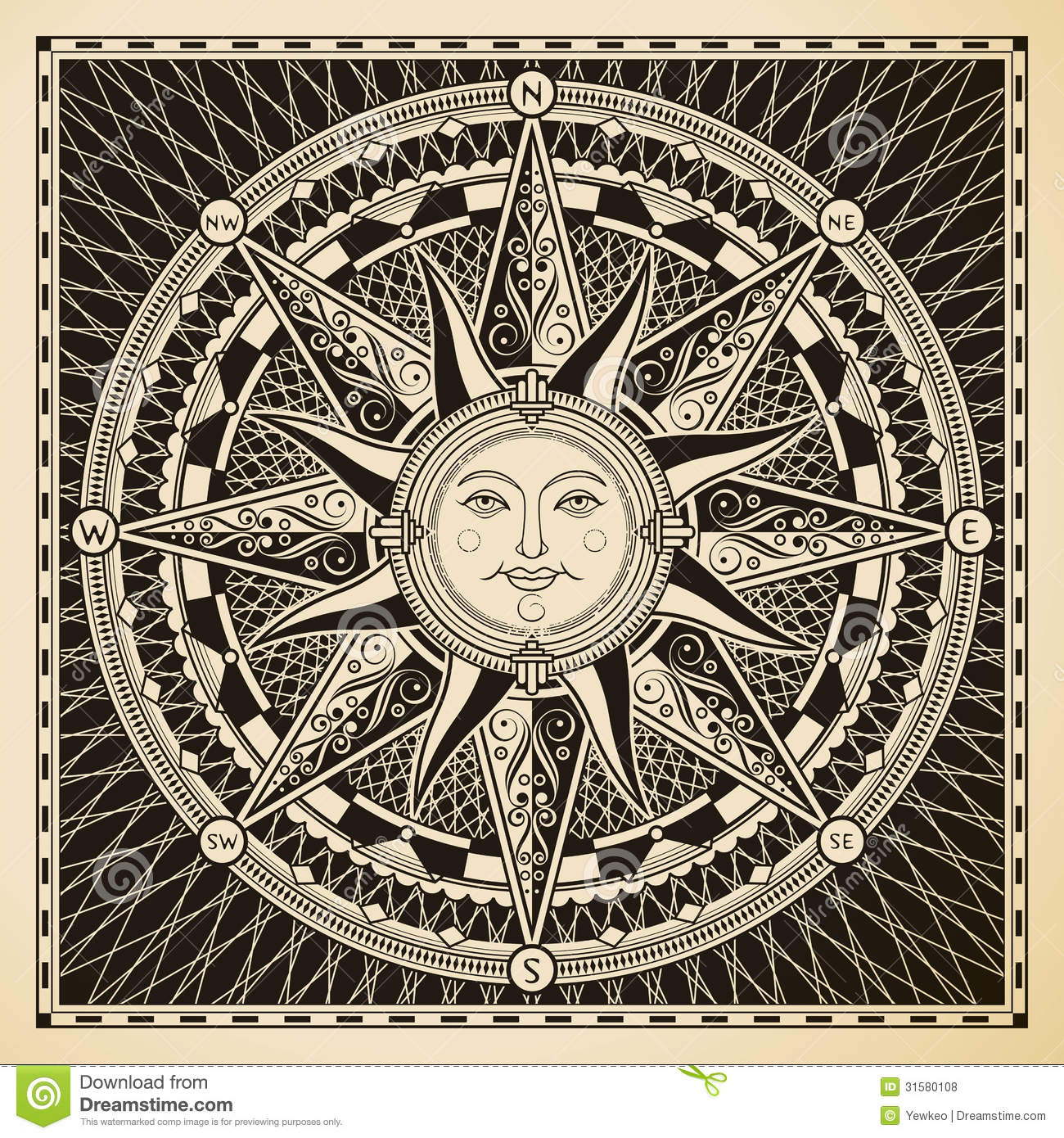 Sun Compass Royalty Free Stock Photos - Image: 31580108: https://www.dreamstime.com/royalty-free-stock-photos-sun-compass...