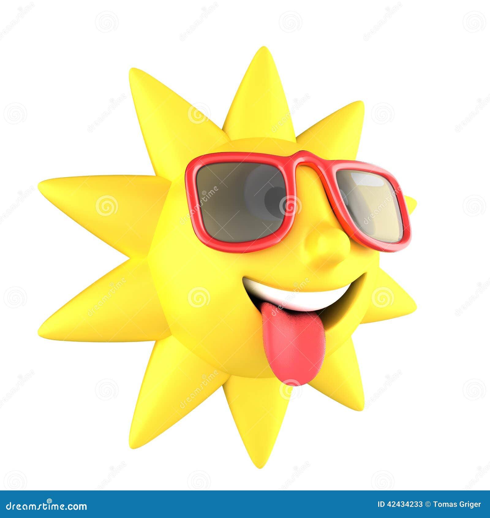 Sun con la sonrisa de las gafas de sol