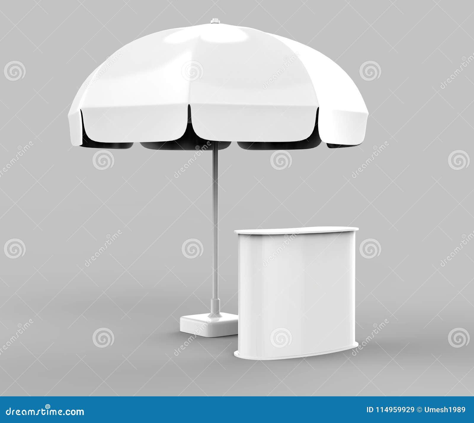 Sun de alumínio relativo à promoção estala acima o guarda-chuva do parasol para anunciar 3d que arranca a ilustração